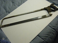 "VINTAGE CAST-STEEL H. DISSTON NO. 7 MEAT SAW WITH 24"" BLADE USA 32"" LONG, EARLY"