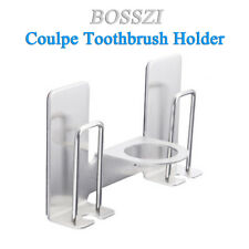 Toothbrush Holders Sus Self Adhesive for Placing Mouthwash Cups, Toothpaste