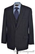 PAUL STUART Recent Striped Gray WOOL CASHMERE Jacket Pants SUIT Mens - 43 R