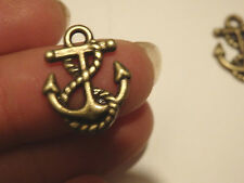 20 anchor l charms pendants bronze antique jewellery making wholesale craft WV10