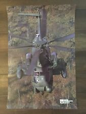 Glossy IN COLOR United Technologies Sikorsky Aircraft Poster- circa 1990s