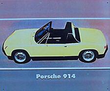 Älteres Blechschild Oldtimer VW Porsche 914 Targa Reklame Werbung gebraucht