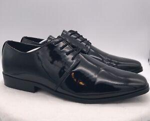 Stacy Adams CLASSY 21114 Mens Black Oxfords Formal Dress Shoes SZ 14W Wide Shiny