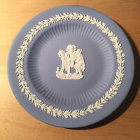 Wedgwood  Jasperware Plate Blue White  3 Cherubs  6 7/8""