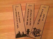Harry Potter Bookmarks - Dobby, Hogwarts, Dumbledore. Great Gift. Set of 3.
