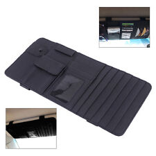 Black Sun Visor 2 in 1 Paper Tissue Box CD DVD Holder Bag Pocket Car Accessories