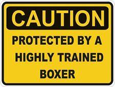Perro Raza Boxer precaución Pegatina Mascota para coche de parachoques Locker Puerta Portátil