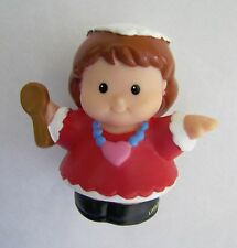 Fisher Price Little People JEWISH HANUKKAH GIRL w/ WHITE Head-Covering Rare!