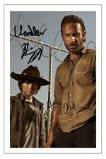 ANDREW LINCOLN & CHANDLER RIGGS THE WALKING DEAD AUTOGRAPH SIGNED PHOTO PRINT 4