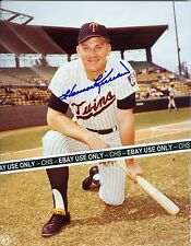 HARMON KILLEBREW NICE SIGNED OFFICIALLY LICENSED COLOR 8x10 PHOTO TWINS MLB