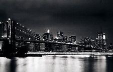 Quadro New York Brooklyn Con Cristalli E Glitter Cm 70x140 Salvadori Arte Nuovo