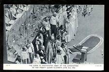Royalty QUEEN ELIZABETH Coronation Scene Westminster Abbey 1953 PPC