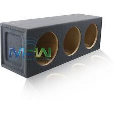 "TRIPLE SEALED 10"" ROUND MDF CAR AUDIO SPEAKER BOX SUB WOOFER SUBWOOFER ENCLOSURE"