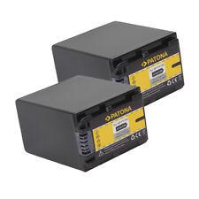 2x Batteria Patona 2850mAh per Sony FDR-AX100E,FDR-AX30,FDR-AX33,FDR-AX40