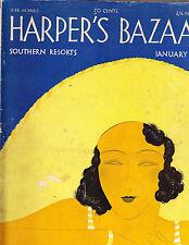 Harper's Bazaar January 1932 Benigni Southern DeMeyer Schiaparelli Mary Nowitzky