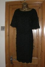 Polyester Round Neck Textured Dresses Midi