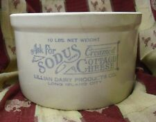 Vintage Large 10 Lb Sodus Brand Creamed Cottage Cheese Crock - Long Island City