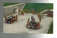 Mint WW 1 US Army Postcard 12 Inch Mortar batteryl Artillery Guns