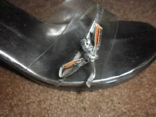 """Glass Slipper"" clear resin 4"" heel Charlotte Russe, size unmarked, about a 10"