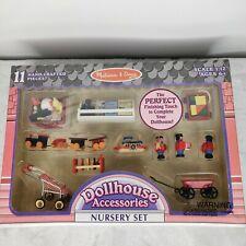 Mellissa & Doug Dollhouse Furniture Nursery Accessories Toys Wood Metal RARE NEW