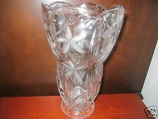Crystal / Glass Vase Frosted and Etched