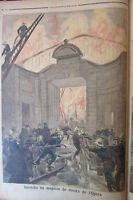 ITALIE SICILE MANIFESTATION POMPIER INCENDIE OPERA GRAVURE PETIT JOURNAL 1894