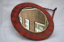 AÑOS 70 Espejo de pared rundspiegel Modelo a cuadros mediados SPACE AGE 70s