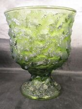 """E.O. Brody Cleveland OH. M3000 Green Glass Compote Planter vase 6 3/8"""" Tall"""