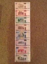 8 x BANCONOTA Bielorussia Set. 20, 50, 100, 500, 1000, 5000, 10000, 20000 RUBLI.