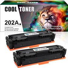 2PK Black Toner for HP 202A CF500A Color LaserJet Pro M254dw M281cdw M281fdw MFP