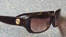 Michael Kors Naples Tortoise Brown Gold Seal Wrap Designer Sunglassses