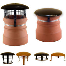 Chimney Pot Cowl / Cap & Mesh - Wood / Log Burner Stove Flue Topper Bird Guard