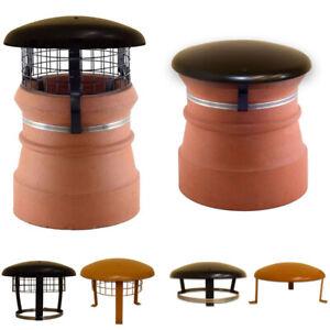 Chimney Pot Cowl / Cap & Mesh - Wood / Log Burner Stove Flue Topper Bird Guard