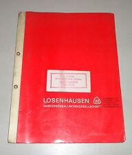 Betriebsanleitung / Teilekatalog Losenhausen Vibromax Rüttler AV 6000