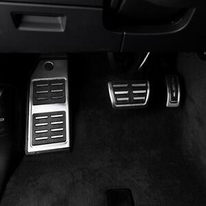 Pedalset Pedal Pedalkappen Fußstütze Edelstahl Automatik Für Audi Q7 SQ7 4M