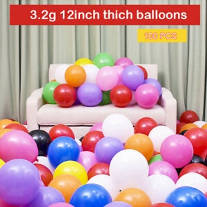 Balloons 100pcs 12 Inch 3.2g Latex Balloons Birthday Inflatable Helium Party