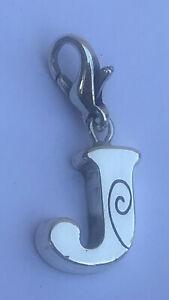 Brighton retired Chic Alpha initial J silver clip on charm J9444H B629