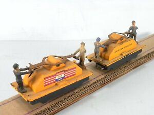 740 REVERSING HAND CAR S Scale - Vintage American Flyer Model Railroad Lot of 2