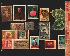 uruguay lot of cinderella poster stamps labels revenues official seals health