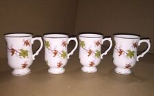 Royal Adderley Floral Coffee Cup / Mug Collection Bone China England Set Of 4