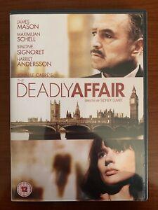 THE DEADLY AFFAIR R2 DVD, 1966 SIDNEY LUMET, JAMES MASON, JOHN LE CARRE STORY