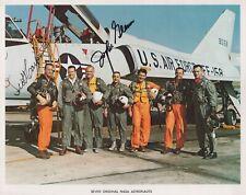Mercury Seven Astronauts John Glenn & Scott Carpenter signed 8x10 NASA photo