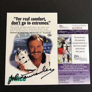 John Newcombe Signed Postcard Prince Promotional US French Wimbledon Open JSA