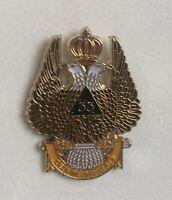 Masonic Rare Scottish Rite 33 Northern Lapel Pin