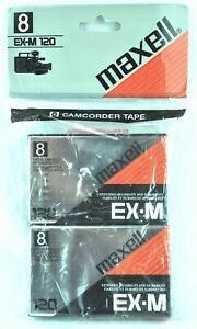 Maxell EX-M 120 Metal 8mm Camcorder Tape Pack Blank Japan P6-120EX New