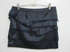 TEMT - Ladies Gorgeous Short Layered Detailed Shiny Soft Skirt - size 14 -