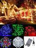 100 200 LED Interno Esterno Catena Luci 8 Programmi Natale Festa Illuminazione