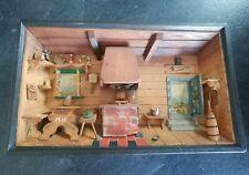 Vintage Swiss Thorens Movement Music Box Scene - Switzerland Blaue Donau Walzer