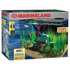 Marineland Nook Aquarium Kit, Easy to maintain, 3 gallon Tank