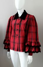 GIVENCHY Couture vintage blouse flared sleeves red FR42 UK14 US10
